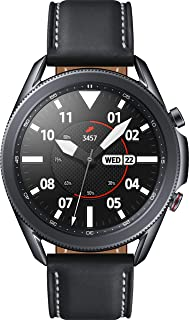 Samsung Galaxy Watch3 Watch 3 (GPS, Bluetooth, LTE) Smart Watch with Advanced Health Monitoring, Fitness Tracking, and Long Lasting Battery (Black, 45MM) (Renewed)