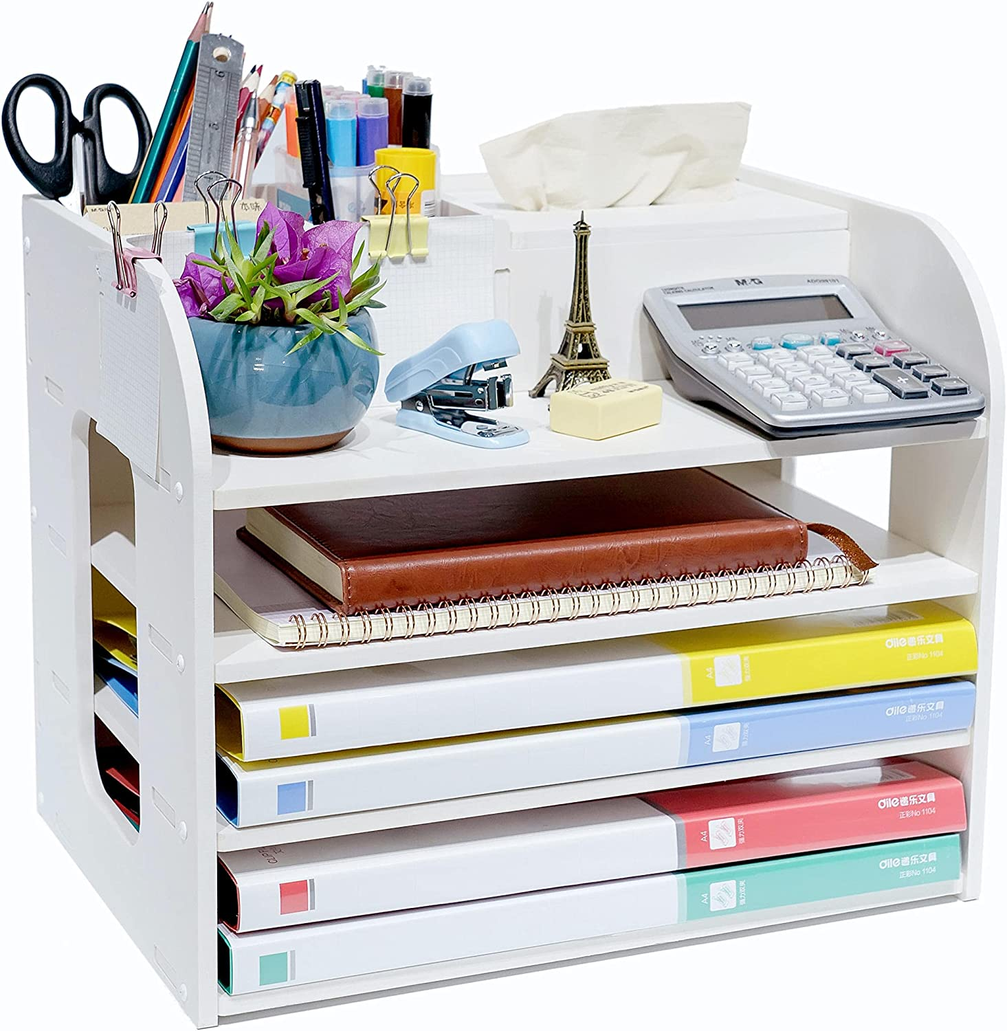 White Office Desk Drawer Ranking integrated 1st place Organizer Accessories Tray Paper Ma Cheap bargain and