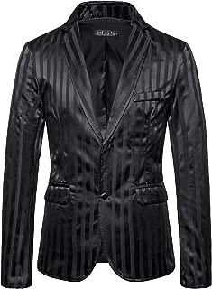 Men's Casual Blazer Coats Slim Fit Dinner Jackets Lightweight Two Button Suit Jacket