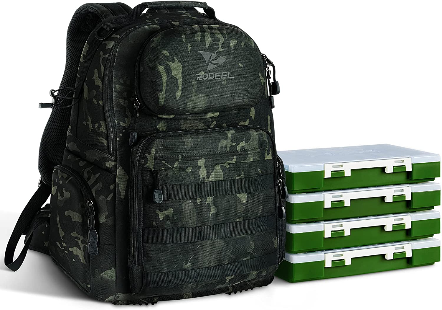 Rodeel Large Storage Backpack Max 83% OFF Tackle Las Vegas Mall Fishing S Hiking