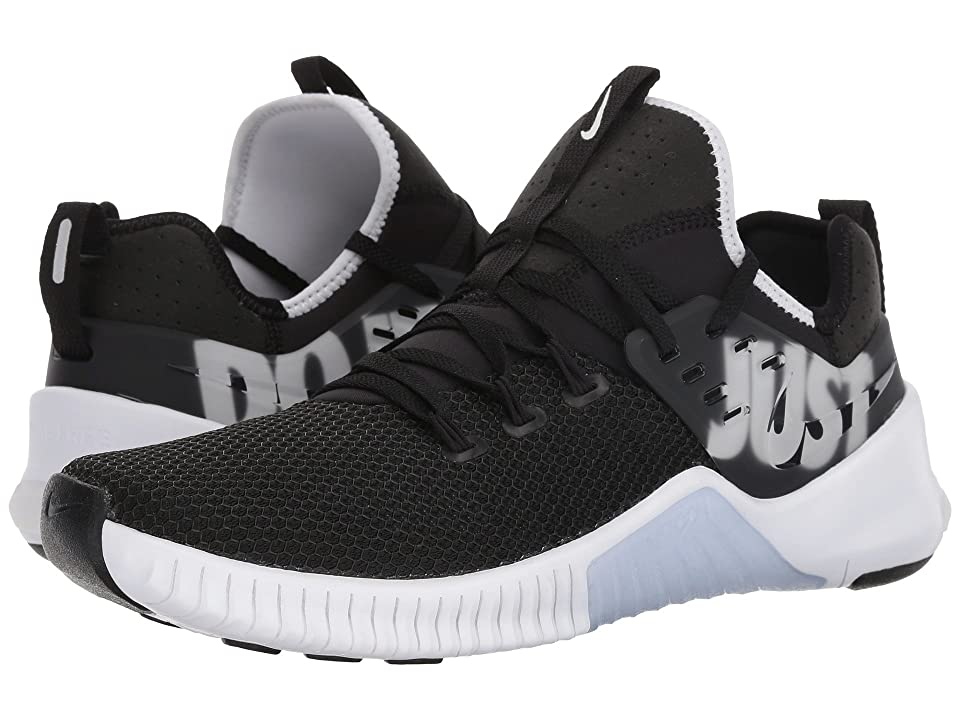Get more from your workouts with the flexible Nike Metcon Free cross training shoes. Breathable mesh uppers with abrasion-resistant rubber support up the sides. Lace-up adjustability with Flywire cables for a locked-down fit. Bootie construction for a sock-like feel. Cushioned insole. Cushioning foam midsole. Rubber outsole with deep grooves for flex and expansion. Imported. Measurements: Weight: 12 oz Product measurements were taken using size 11  width D - Medium. Please note that measurements may vary by size. Weight of footwear is based on a single item  not a pair.