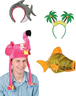 Beistle S3AZA Luau Hats Assortment, One Size Fits Most, Multicolor