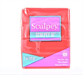 Sculpey Iii Polymer Clay 2oz-Red Hot Red