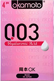 Okamoto 003 Hyaluronic Acid Condoms, 4 ct