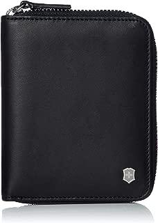 Victorinox Unisex Altius Edge Weyl Zippered Clutch Wallet w/RFID Protection Black Leather One Size