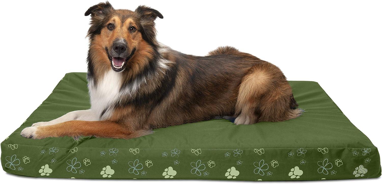 Furhaven Pet Dog Bed   Deluxe Memory Foam Indoor Outdoor Garden Mattress Pet Bed for Dogs & Cats, Jungle Green, Jumbo