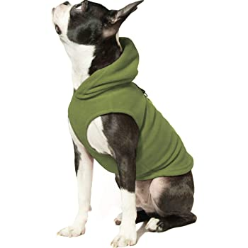 Gooby Dog Hoodie Fleece Vest - Pull Over Dog Jacket with Leash Ring - Winter Small Dog Sweater - Warm Dog Clothes for Small Dogs Girl or Boy Dog Vest for Indoor and Outdoor Use