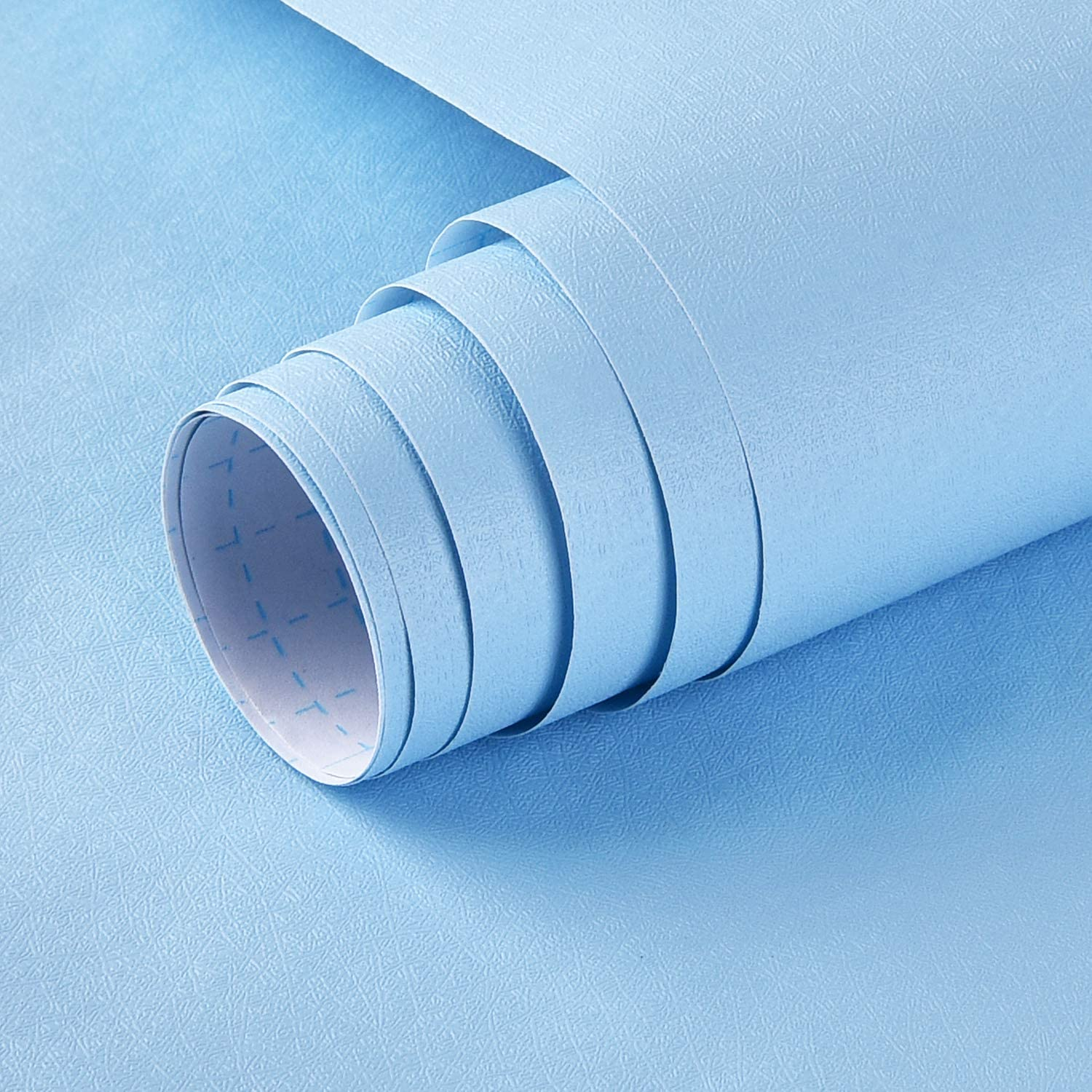 Tulsa Mall Blue Wallpaper Max 72% OFF 17.71In×118In Contact Paper and Peel