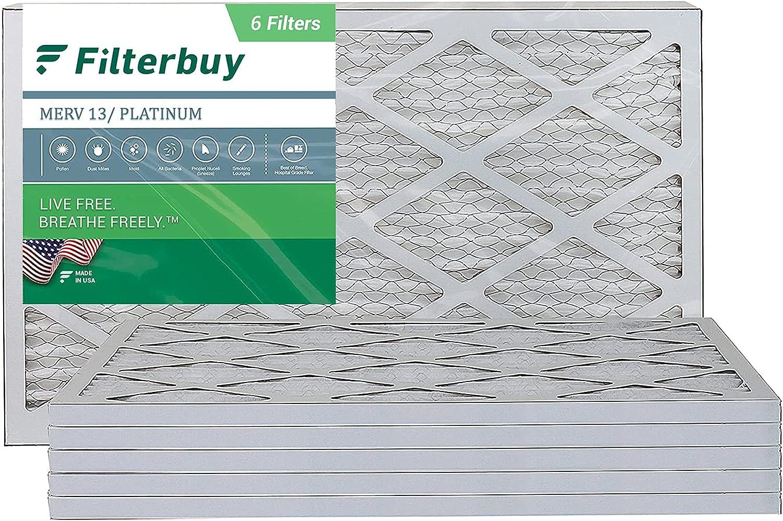 FilterBuy 14x24x1 Albuquerque Mall Air Filter MERV 13 Fi AC trend rank Furnace Pleated HVAC