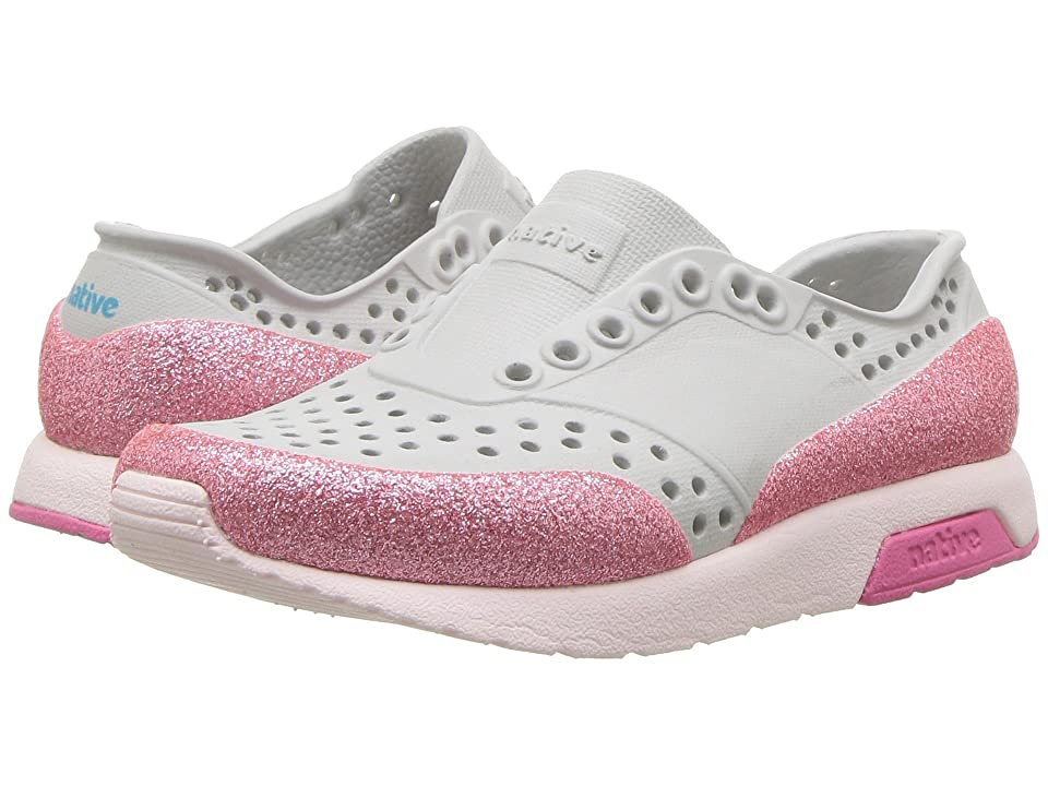 Native Kids Shoes Lennox Glitter (Toddler/Little Kid) (Mist Grey/Milk Pink/Hollywood Pink/Glitter) Girls Shoes
