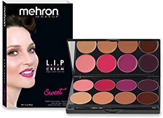 Mehron Makeup Highly Pigmented Semi-Matte LIP Cream (8 Color Palette: Sweet)