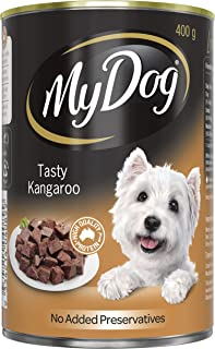 MY DOG Tasty Kangaroo Wet Dog Food 400g Can, 24 Pack, Adult, Small/Medium