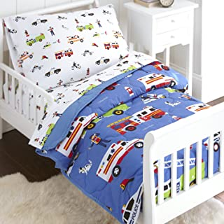 Wildkin 4 Piece Toddler Bed-in-A-Bag, 100% Microfiber Bedding Set, Includes Comforter, Flat Sheet, Fitted Sheet, and Pillowcase, Coordinates with Other Room Décor, Olive Kids Design – Heroes