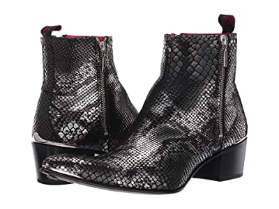 Jeffery-West Sylvian Double Zip Boot (Black Snake) Men