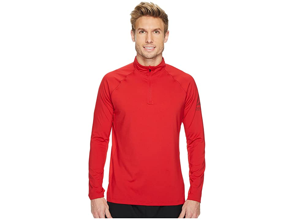 Reebok Poly Blend 1/4 Zip (Excellent Red) Men