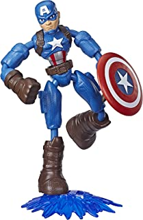 MARVEL E7869 Avengers Bend and Flex Action Figure Toy, 6-Inch Flexible Captain America, Includes Accessory, Ages 4 and Up