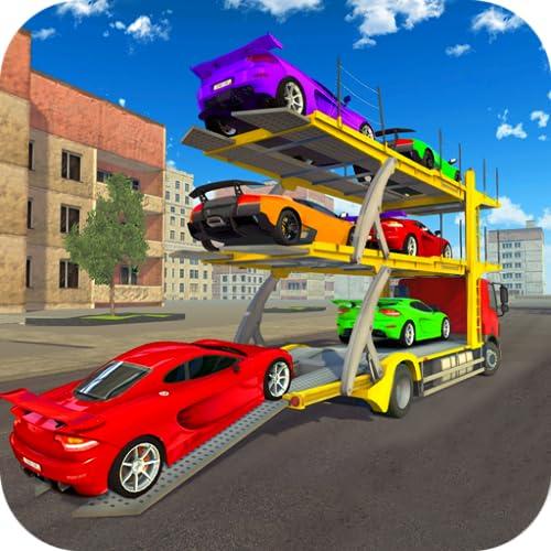 Simulador de condução de caminhão de transporte de carro