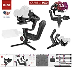 Zhiyun Crane 3 Lab 3-Axis Handheld Gimbal DSLR Camera Stabilizer for Sony A73 A7R3,Canon 1DX II 6D 5D IV,Panasonic GH4 GH5 GH5S,Nikon D850 Versatile Structure,ViaTouch Control,Payload 10Lbs