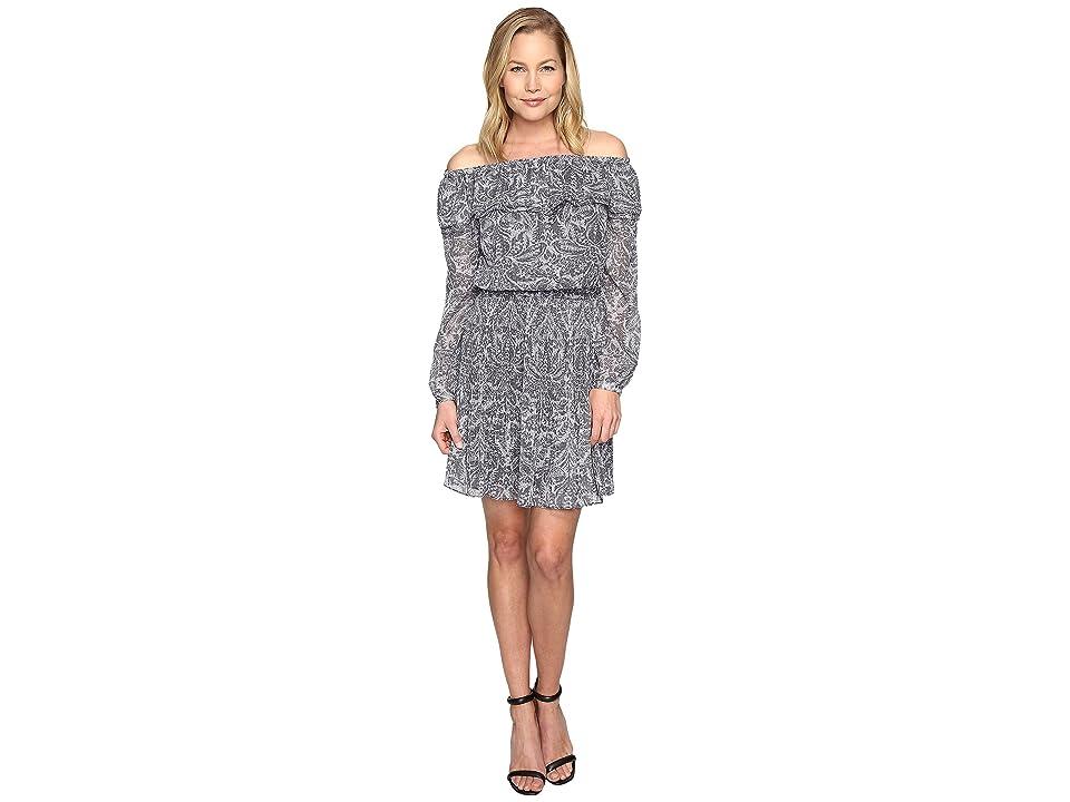MICHAEL Michael Kors Hamilton Off Shoulder Dress (Ecru) Women
