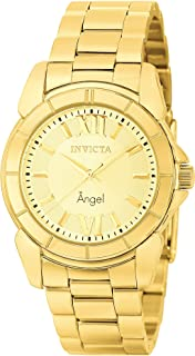 Invicta Women's 0459 Angel Collection Rhodium-Plated Gold-Tone Watch