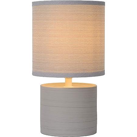 Lucide GREASBY - Lampe De Table - Ø 14 cm - Gris