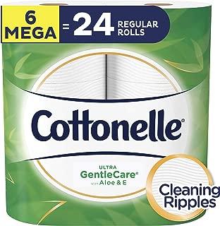 Cottonelle Ultra GentleCare Toilet Paper, Aloe & Vitamin E, 6 Mega Rolls