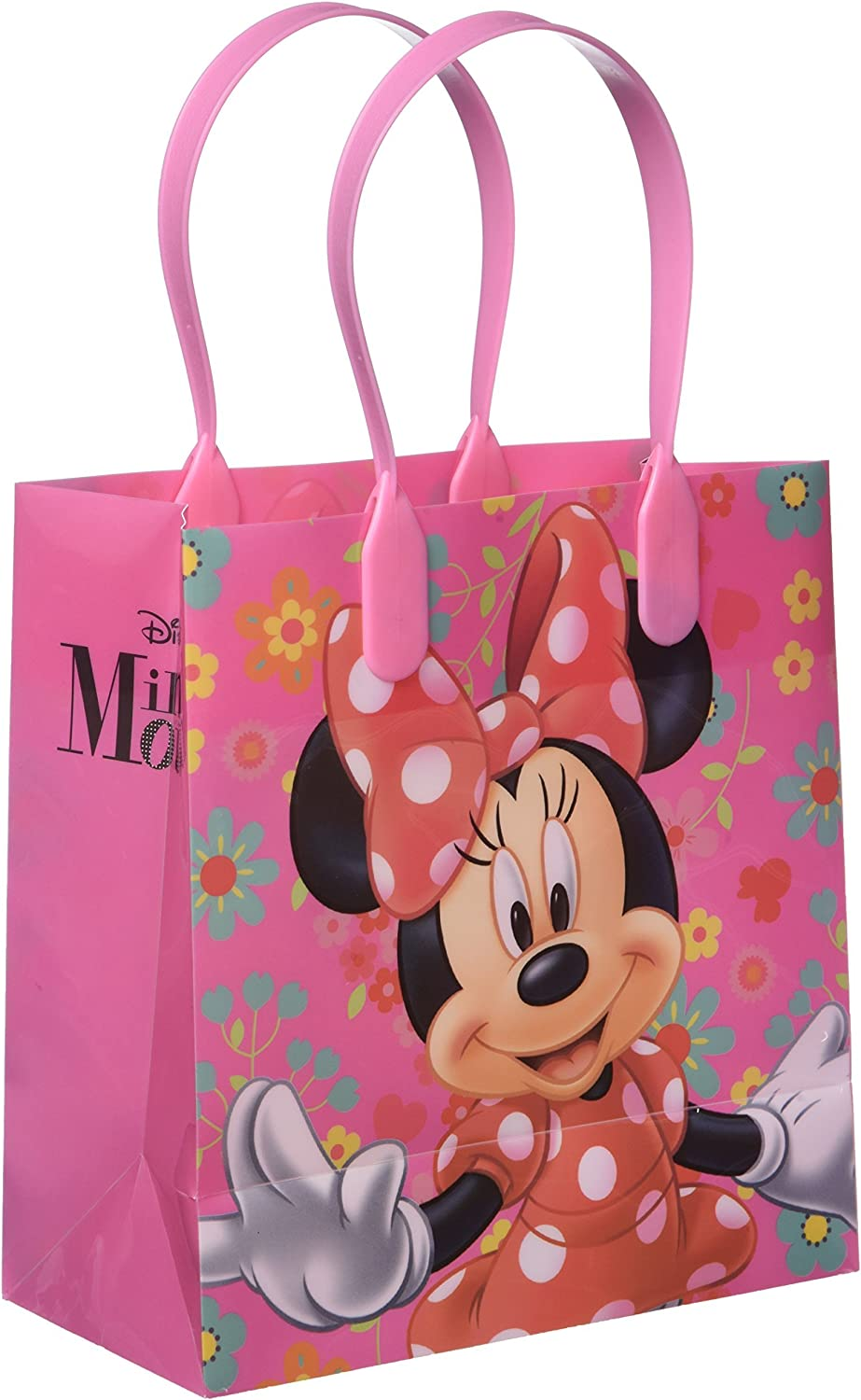 Disney Minnie Mouse Party Favor Goodie Gift Bag  6  Small Size (12 Packs) by Disney