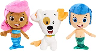 Nick Jr Bubble Guppies Bean Plush -Set of 3: Molly, Gil and Bubble Puppy APPR. 7