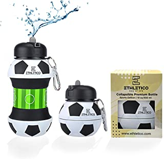 ETHLETICO Collapsible Water Bottles with Carabiner Food...