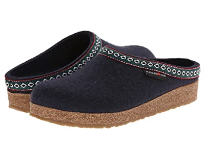 Haflinger GZ Classic Grizzly (Med Blue) Clog Shoes
