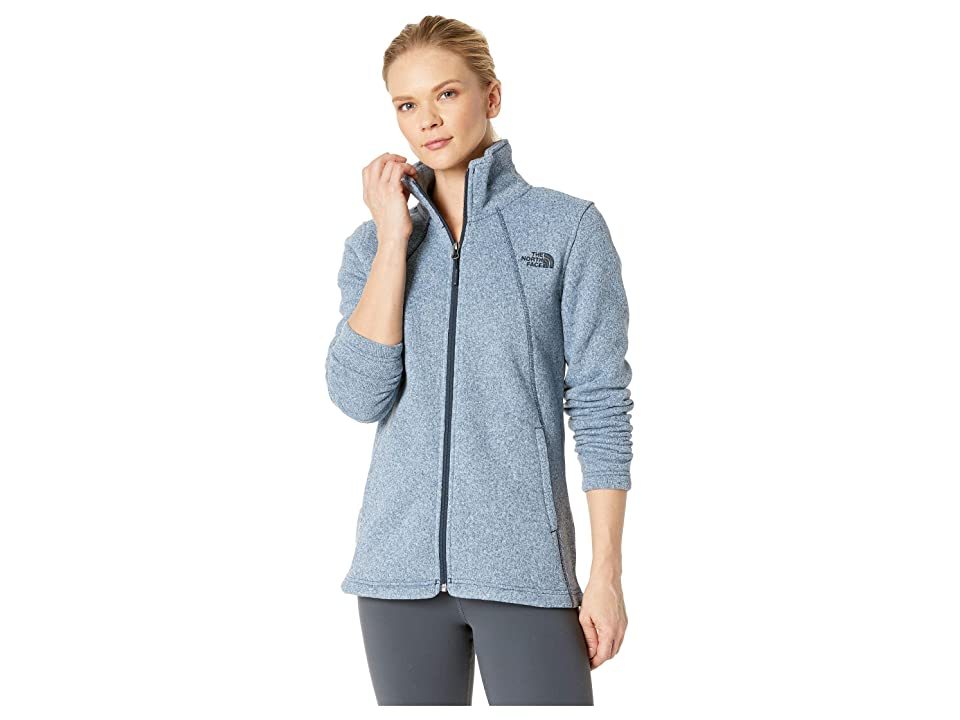 The North Face Crescent Full Zip (Blue Wing Teal Multi Crescent Heather) Women