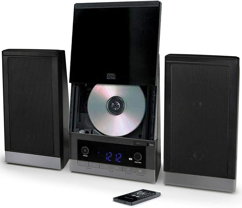 ONN Audio Compact Home CD Vertical-Loading 1 year warranty wi Shelf Music San Jose Mall System