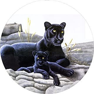 Black Panther & Cub Spare Tire Cover for 255/75R17 Jeep RV Camper Trailer(Drop Down Size menu)