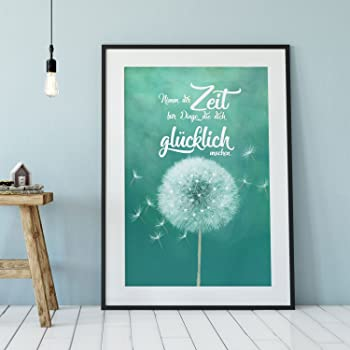 ilka parey wandtattoo-welt A4 Print Pusteblume mit Spruch