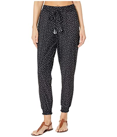 Tommy Bahama Sea Spray Dots Active Jogger with Pockets Cover-Up (Black) Women