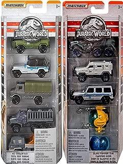 AYB Mission Dinosaur Jurassic World 10 Cars Trucks Matchbox Die-Cast series Island Team Collection Submarine Capsule Trucks / SUV Off Road vehicles / Gyrosphere / Jeep / Cage Haulers / Off Road Fleet