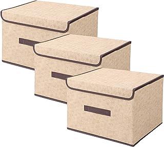 アストロ 収納ケース 3個組 ベージュ 不織布 軽量 カラーボックスにも 折りたたみ 持ち手付き 821-99 小