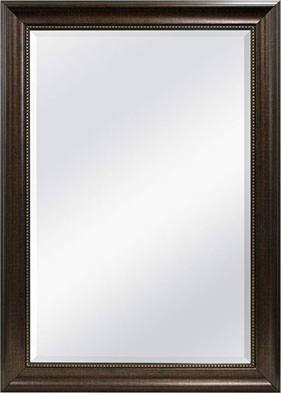 MCS Beaded Rectangular Wall Mirror 30 2 By 40 2 Inch Bronze