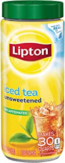 Lipton Decaffeinated Unsweetened Iced Tea Mix, 30 qt (Pack of 2)