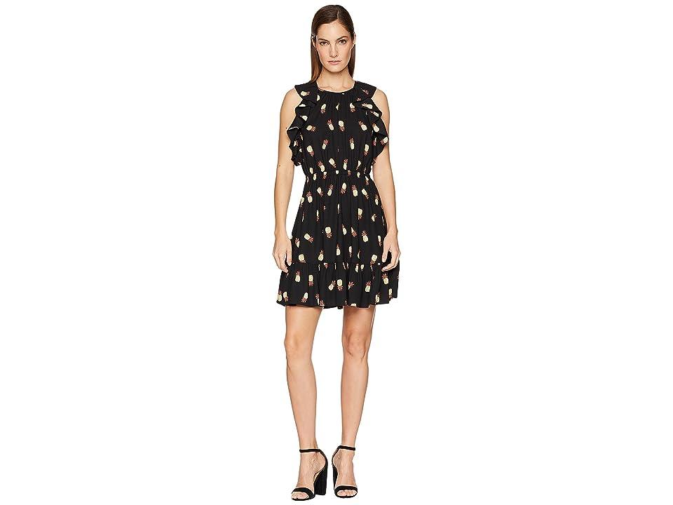 Kate Spade New York Pineapple Dress (Black) Women