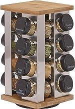 Kamenstein 5134680 Warner 16-Jar Revolving Countertop Spice Rack Organizer with Free Spice Refills for 5 Years