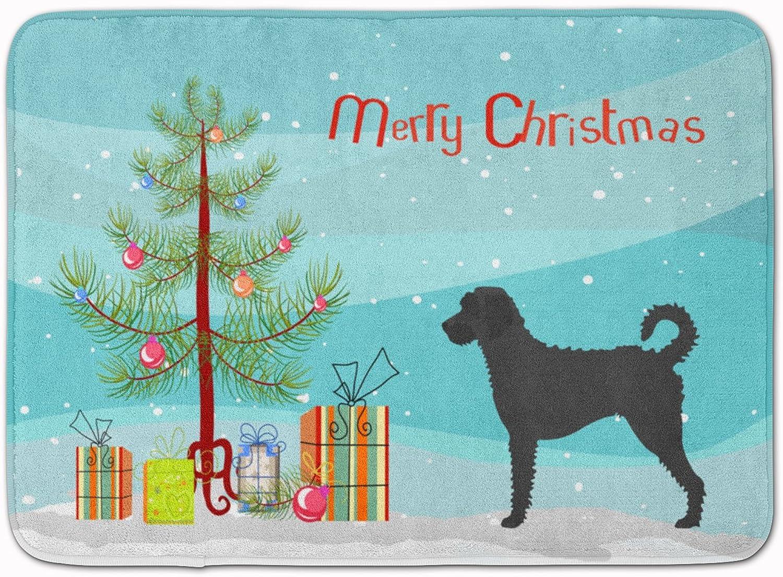Caroline's Treasures Labradoodle Christmas Floor Mat, 19hx27w, Multicolor
