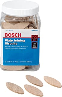 Bosch PJ1120 Plate Joiner Biscuits size 20, 100 Pack