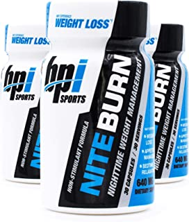 BPI Sports Nite Burn Nighttime Weight Management Formula LimitedQuantity 640 MG 30-Count (Pack of 3)