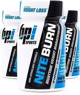 BPI Sports Nite Burn Nighttime Weight Management Formula LimitedQuantity 640 MG 30-Count (Pack of 3)