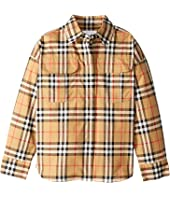 Burberry Kids - Sasha Check Dress Shirt (Little Kids/Big Kids)