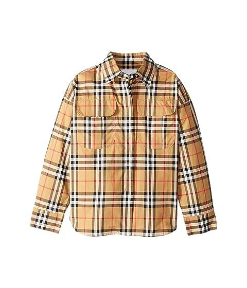 Burberry Kids Sasha Check Dress Shirt (Little Kids/Big Kids)
