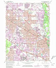 YellowMaps Arlington Heights IL topo map, 1:24000 Scale, 7.5 X 7.5 Minute, Historical, 1963, Updated 1981, 26.8 x 22 in