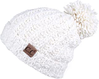 C.C Exclusives Exclusives Cable Knit Top Soft Large Pom Beanie Hat(HAT-7362)