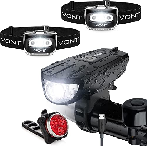2021 Vont Biking Lights Bundle – 2 Pack Spark 2021 Headlamps & Breeze Bike Light Set - Ideal Lighting Pack for Your Night Rides - A Combo for All Your Outdoor Adventures - Compact, Water and online sale Pressure Resistant sale